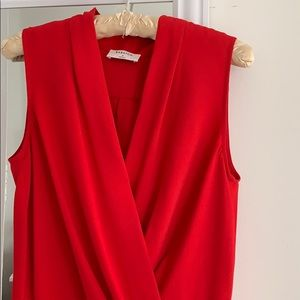 ARITZIA BABTON PHOENIX CHERRY RED DRESS SZ 2